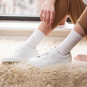 GREATS Brooklyn The Royale White Leather Sneakers